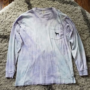 Pink Victoria's Secret Long Sleeve Campus Tee
